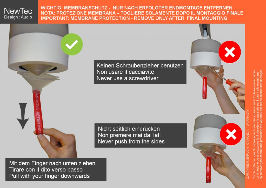NewTec Membranschutz für Lautsprecher
