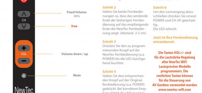 NewTec Fernbedienung Lautsprecher