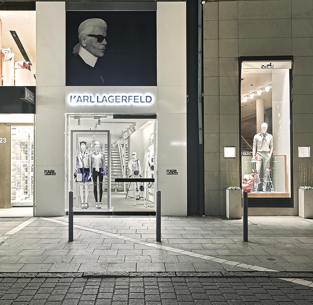 projekt karl lagerfeld pop up store in frankfurt. Black Bedroom Furniture Sets. Home Design Ideas