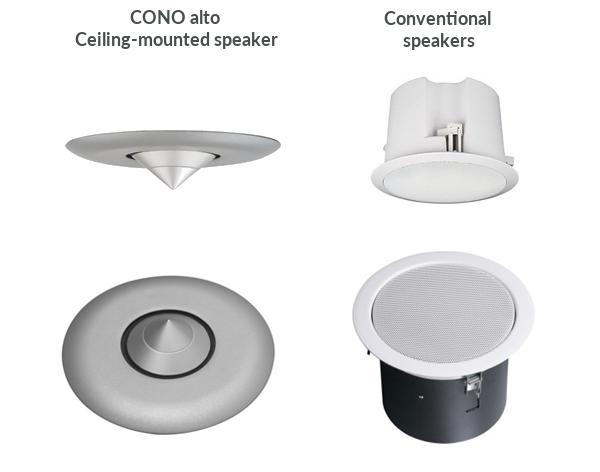 CONO alto Ceiling-mounted speaker