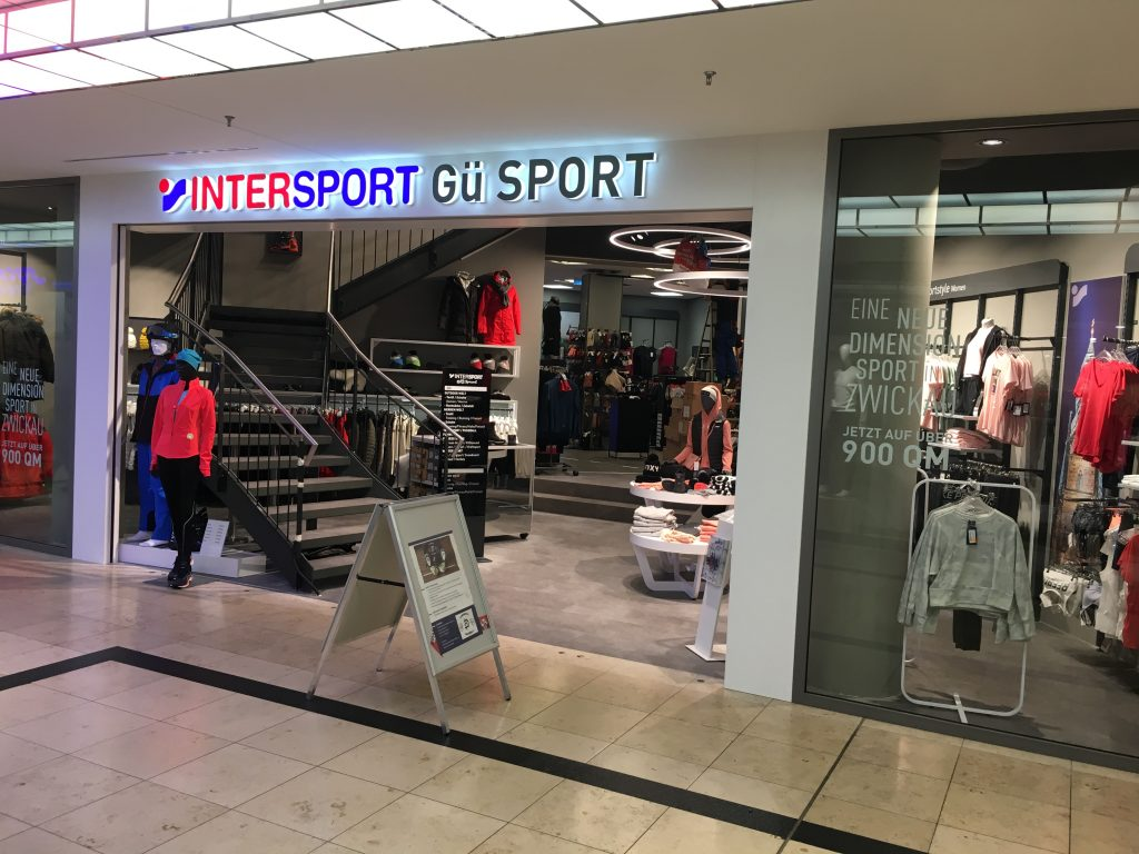 NewTec Intersport GÜ Sport Lautsprecher Sound Stromschiene Design